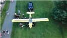Aerial photo of small plane