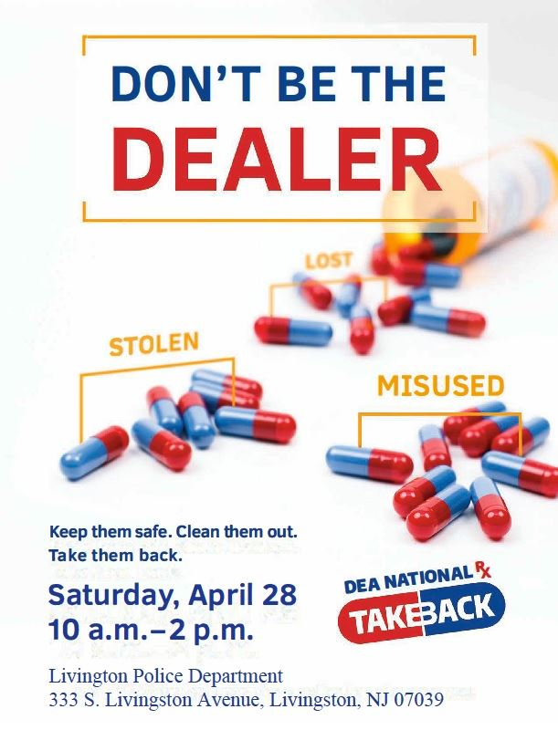 Flyer with information about Operation Take Back April 2018 event