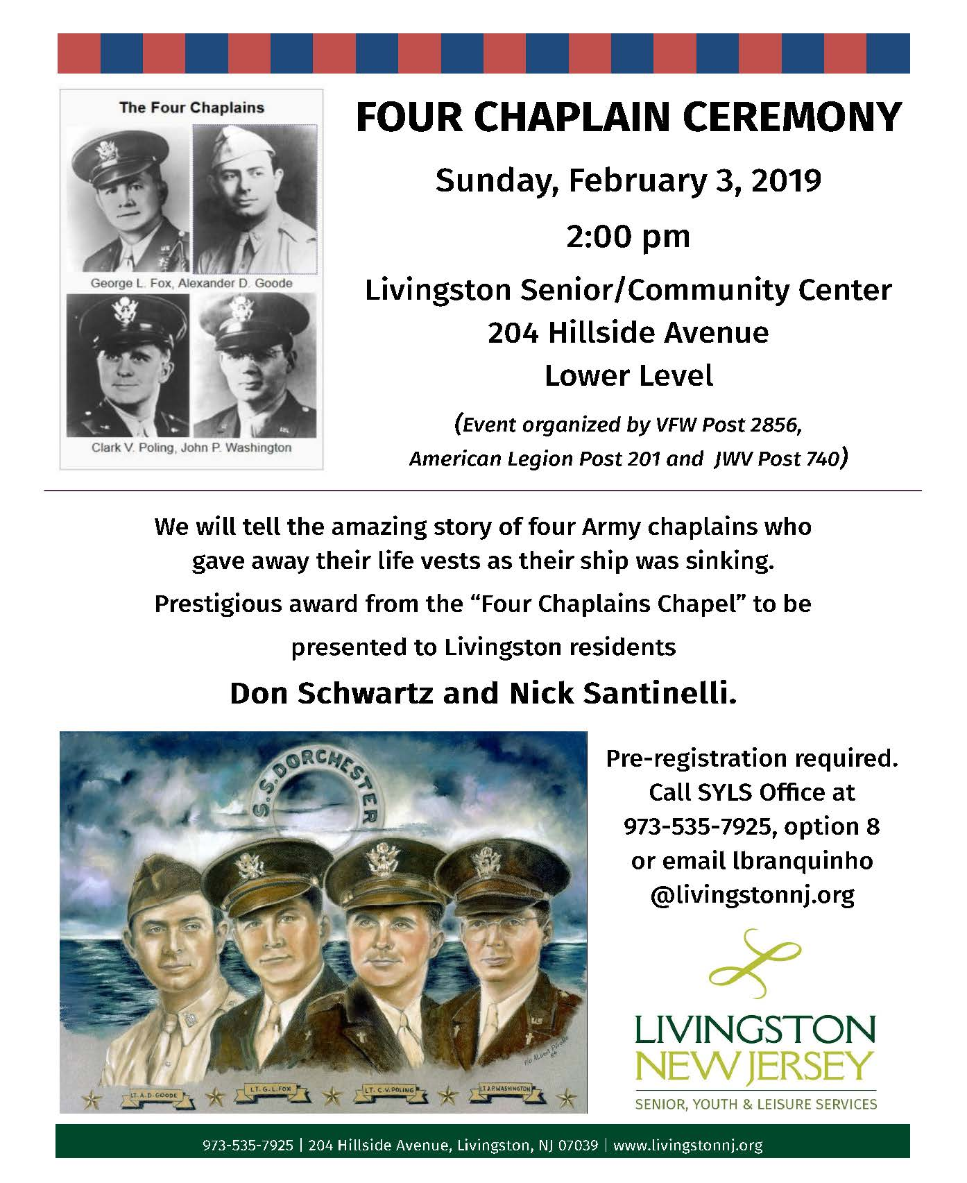 Four Chaplains Flyer 2019