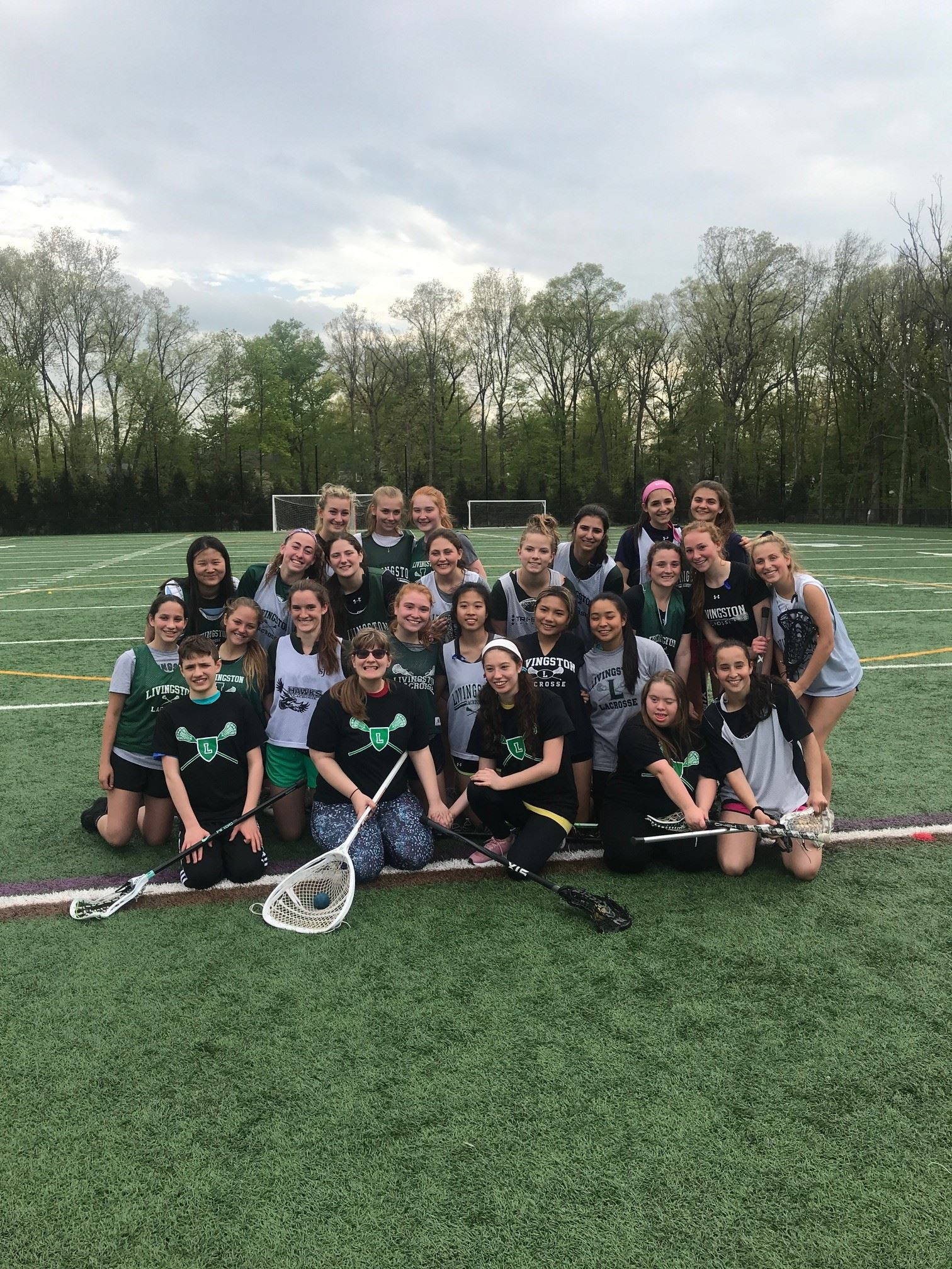 LHS Girls Lacrosse Team with Shining Stars Participants