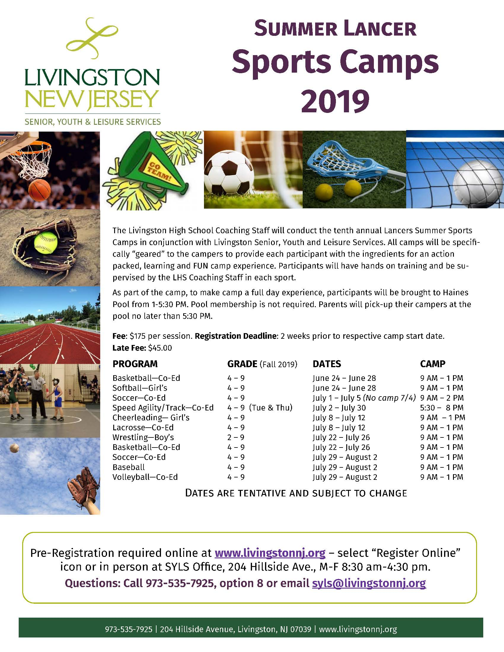 Summer Lancer Sports Camp 2019