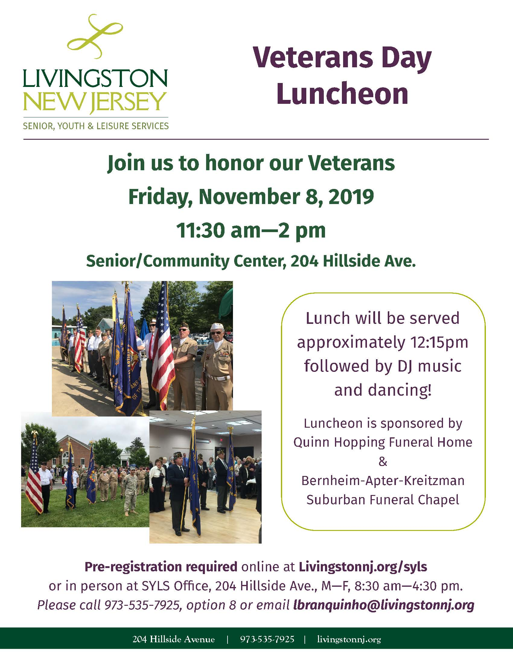 Veterans Day Luncheon 2019