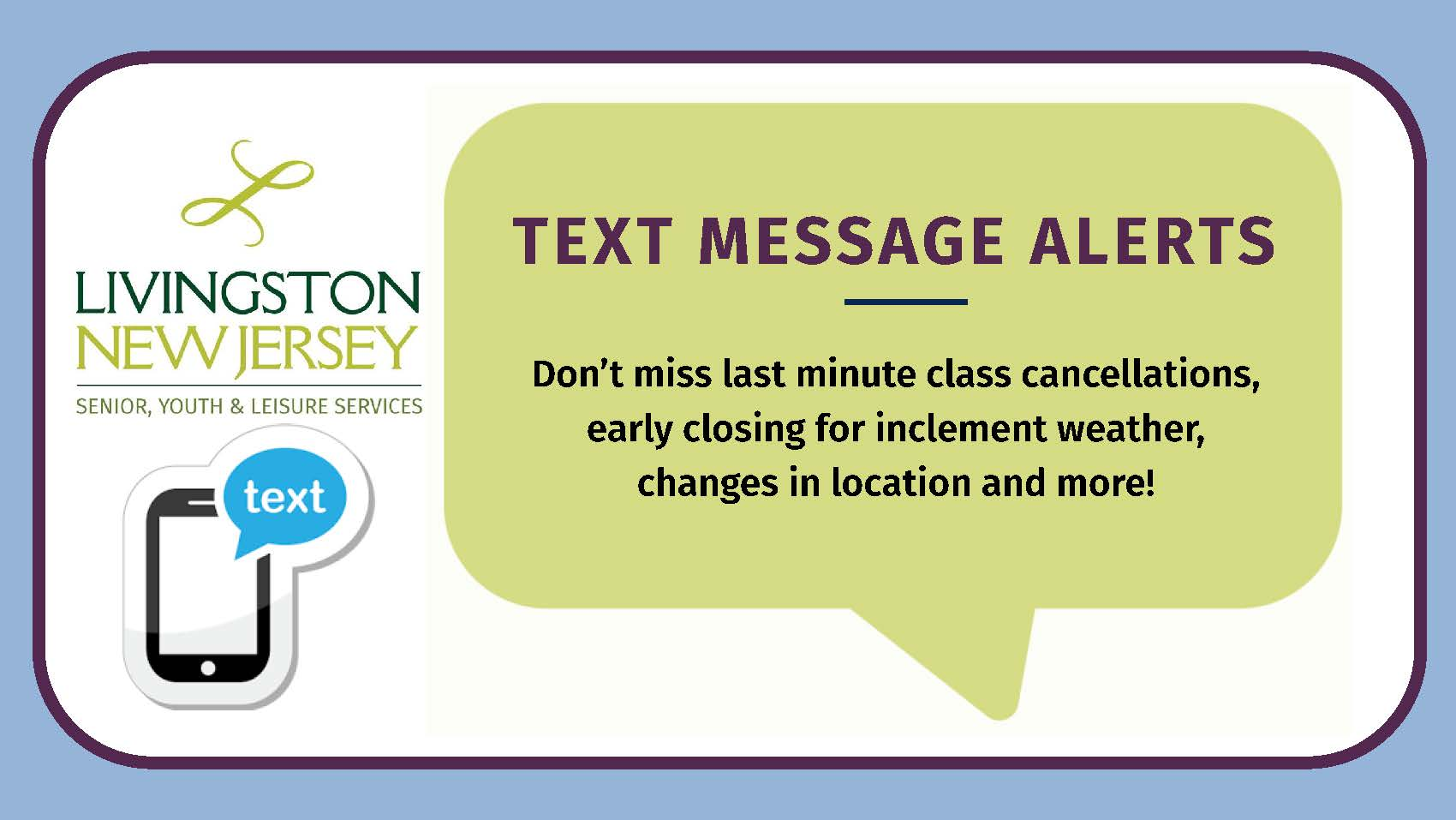 Text message banner