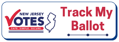 NJ Votes logo, Track My Ballot with points along line