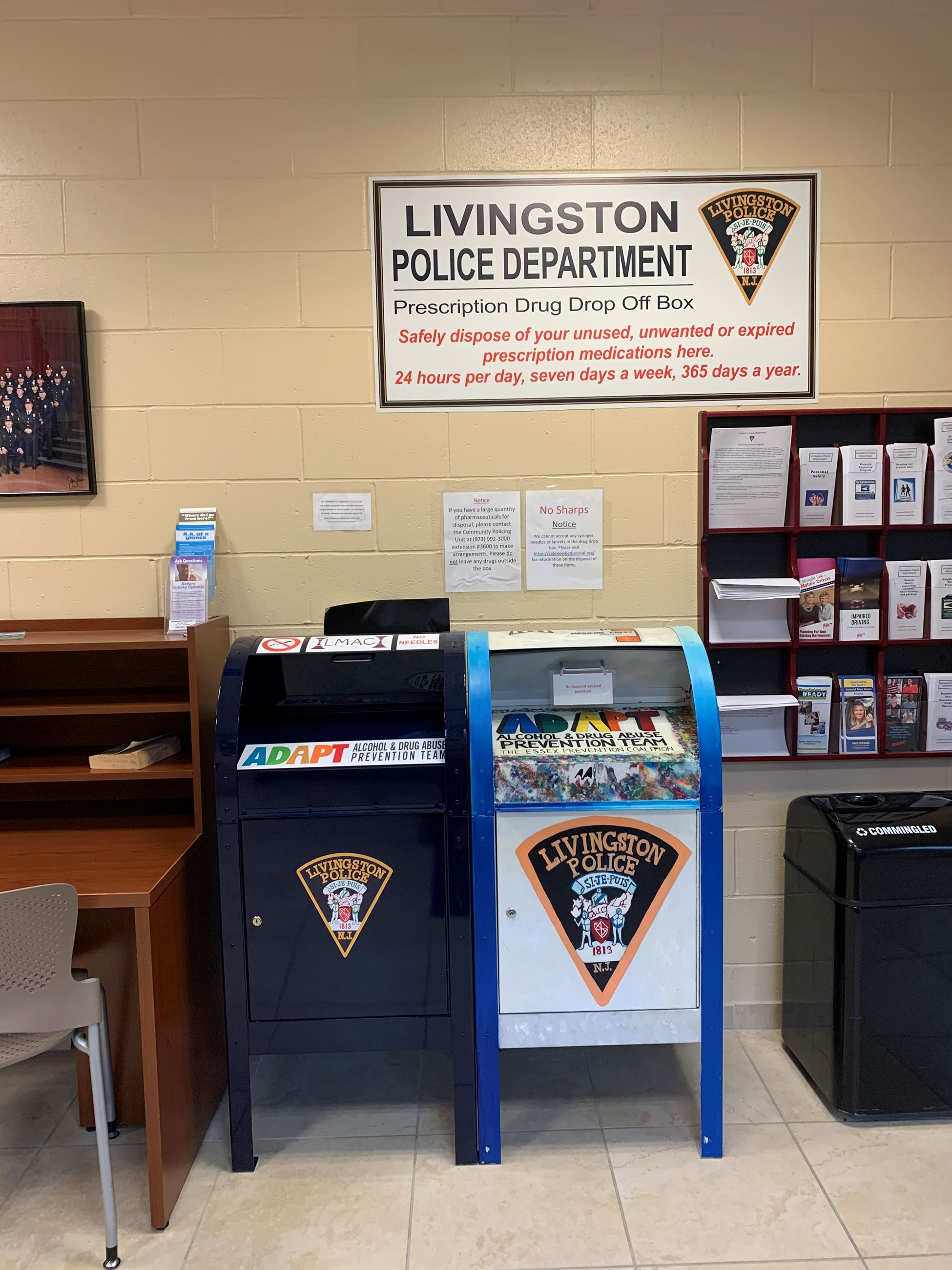 2 Drug Drop Boxes in Police Headquarters