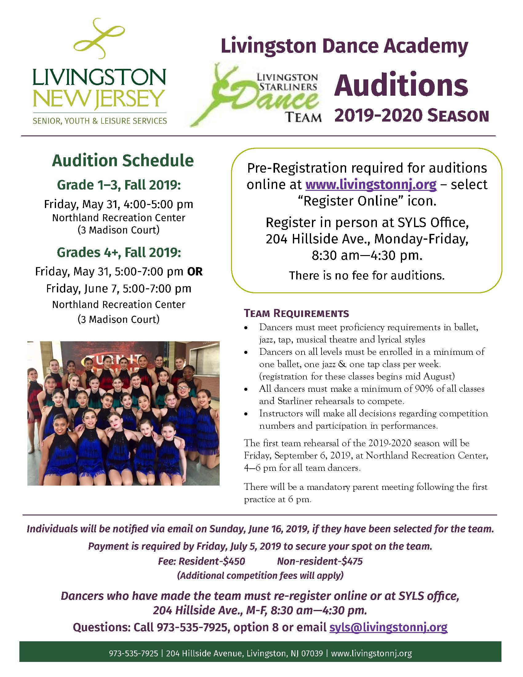 Dance Auditions 2019