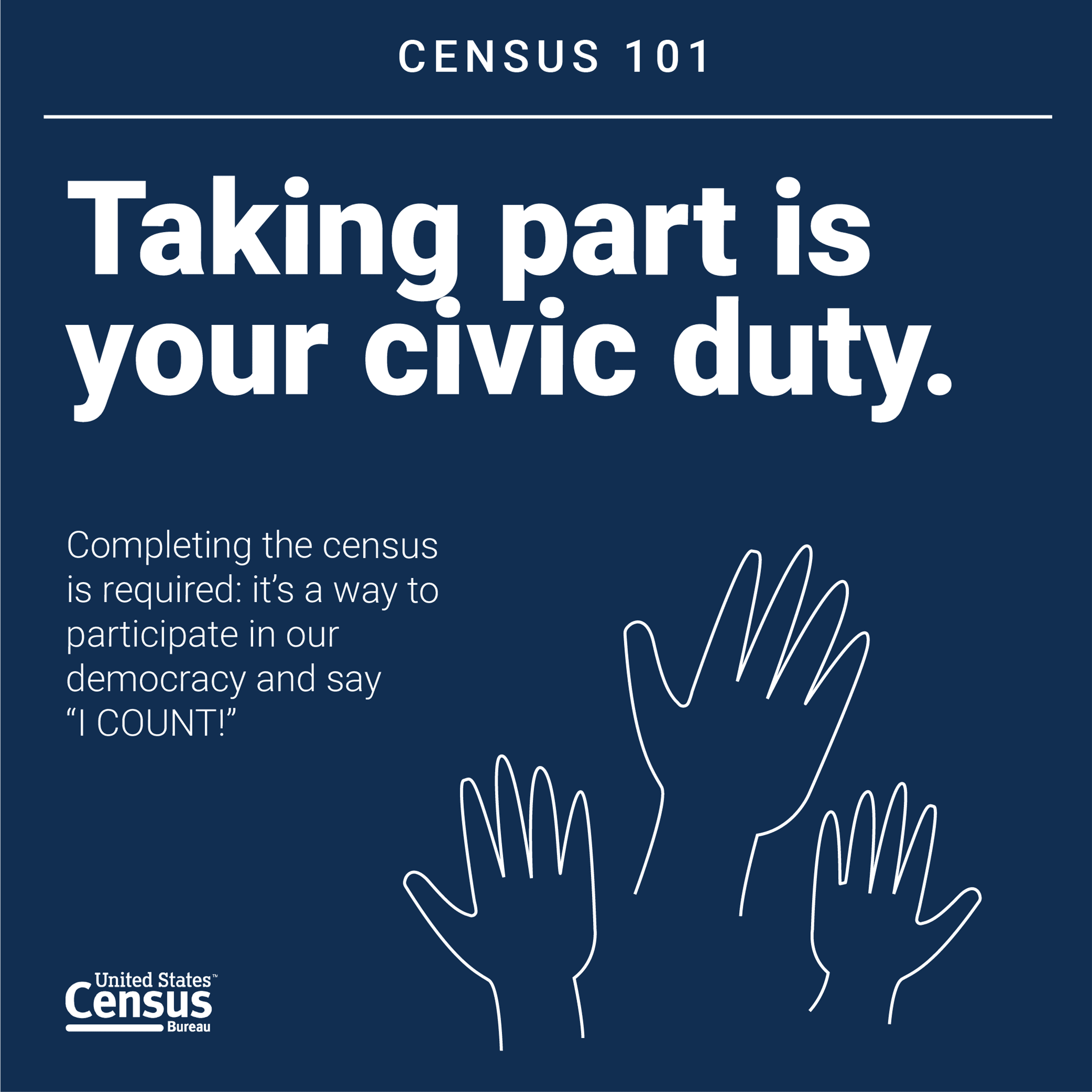 Taking part in the census is your civic duty.